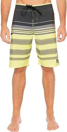 Silwave 男士 DuraFit 弹力条纹沙滩裤 30 黑色 SR106016-BLM-30
