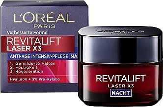 L'Oréal Paris复颜光学 晚霜, 抗老化 面霜, Revitalift Laser x3 夜间护肤 抗皱纹, 50ml