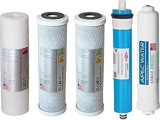 APEC US Made 90 GPD Complete 替换过滤器套件适用于带 0.95 cm 快速分配的 ULTIMATE 系列反渗透滤水器系统(适用于升级系统过滤-MAX90-38)