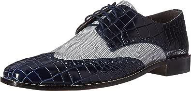 Stacy Adams 男士 Giordano 翼纹牛津鞋 蓝色/淡蓝色 8.5 M US