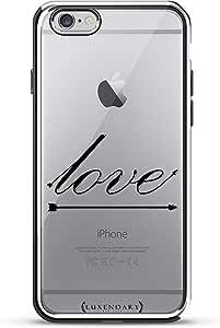 Luxendary Texas 家居:黑色透明设计镀铬系列手机壳适用于 iPhone 6/6S PlusLUX-I6PLCRM-LOVE1 LOVE ARROW iPhone 6 Plus 5.5 Inch 银色