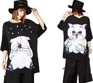 [ankoROCK] ankoROCK 猫咪 哭白猫头鹰T恤-大号2020SUMMER 兔子哭猫猫 日本 onesize (FREE サイズ)