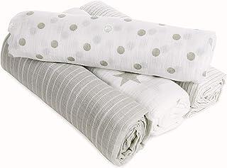 aden + Anais 的 Aden 婴儿襁褓毯,* 棉布,4 件装 Dusty
