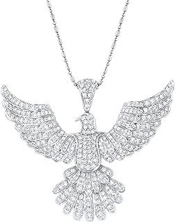 Olivia Paris 14K 白金 1.5 克拉 (cctw) 钻石鹰形吊坠
