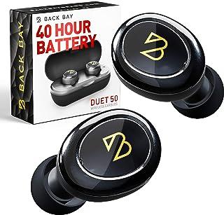 Duet 50 真正的无线耳塞蓝牙 5.0 [特色滚石,Forbes] 40 小时长电池寿命带充电盒防汗真正的无线 APTX 耳机适用于跑步TWS 麦克风