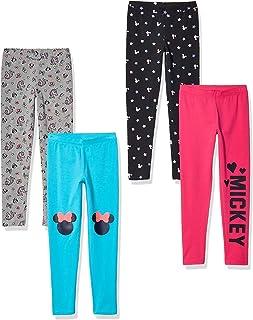 迪士尼斑点斑马 - 女童幼儿和儿童米老鼠 4 条装打底裤