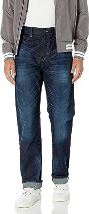 Calvin Klein 卡尔文·克莱恩 男式舒适休闲 宽松直筒牛仔裤