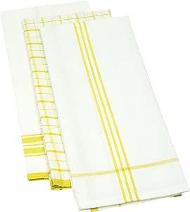 Mahogany 亚麻混合厨房毛巾 黄色 KT090YL