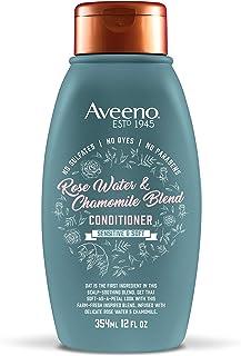 Aveeno *舒缓玫瑰水和洋甘菊混合护发素敏感柔软,无硫酸盐护发素,无染料或防腐剂,12 液体。 盎司
