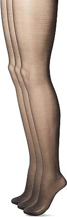 L'eggs 女士能量控制上衣透明脚趾内裤软管 乌黑色 B