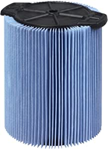 WORKSHOP 湿巾/干爽度假 3 至 4.5 加仑细尘过滤器 适用于湿干燥店真空 5 to 16 Gallon 蓝色 WS22200F