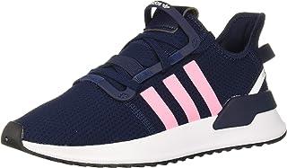 adidas 阿迪达斯 Originals 儿童 U_Path 跑鞋 Collegiate Navy/Light Pink/White 12 M US 儿童