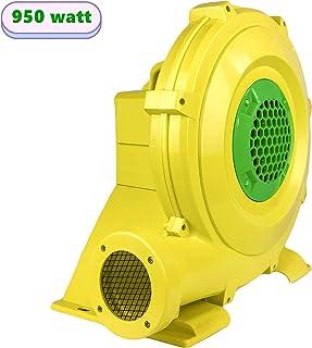 充气鼓风机 950 瓦充气式弹跳房屋鼓风机,1.25 马力充气城堡和跳梯,便携式强大充气鼓风机泵