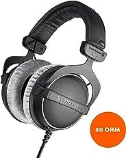 Beyerdynamic 拜亚动力 DT 770 PRO 80欧姆黑色录音室耳机,封闭式设计,有线进行专业录音和监控