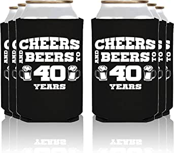 NeeNoNex Cheers And Beers To 40 年绝缘罐冷藏机 - 父母 Blk, 40 Years
