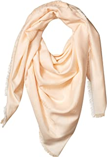 Emporio Armani 安普里奥·阿玛尼女式混棉方形围巾,带标识细节