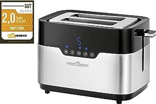 "ProfiCook 烤面包机 PC-TA 1170 / ""宽槽"" / 传感器触摸/小面包配件/面包盘/中心功能 / 7 种烘烤级别/不锈钢外壳"