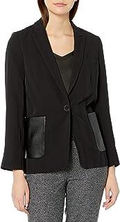 Kenneth Cole 女士缎面条纹外套