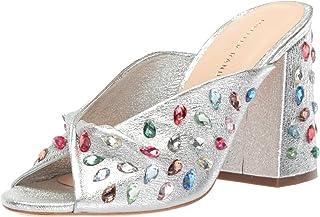 Loeffler Randall 女式 Laurel (Crinkle MetallicGem) 高跟凉鞋