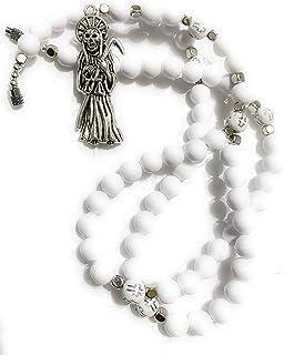 亚克力圣死神项链,念珠风格项圈圣诞老人Muerte de acrilico estilo rosario死神Y风格项链。