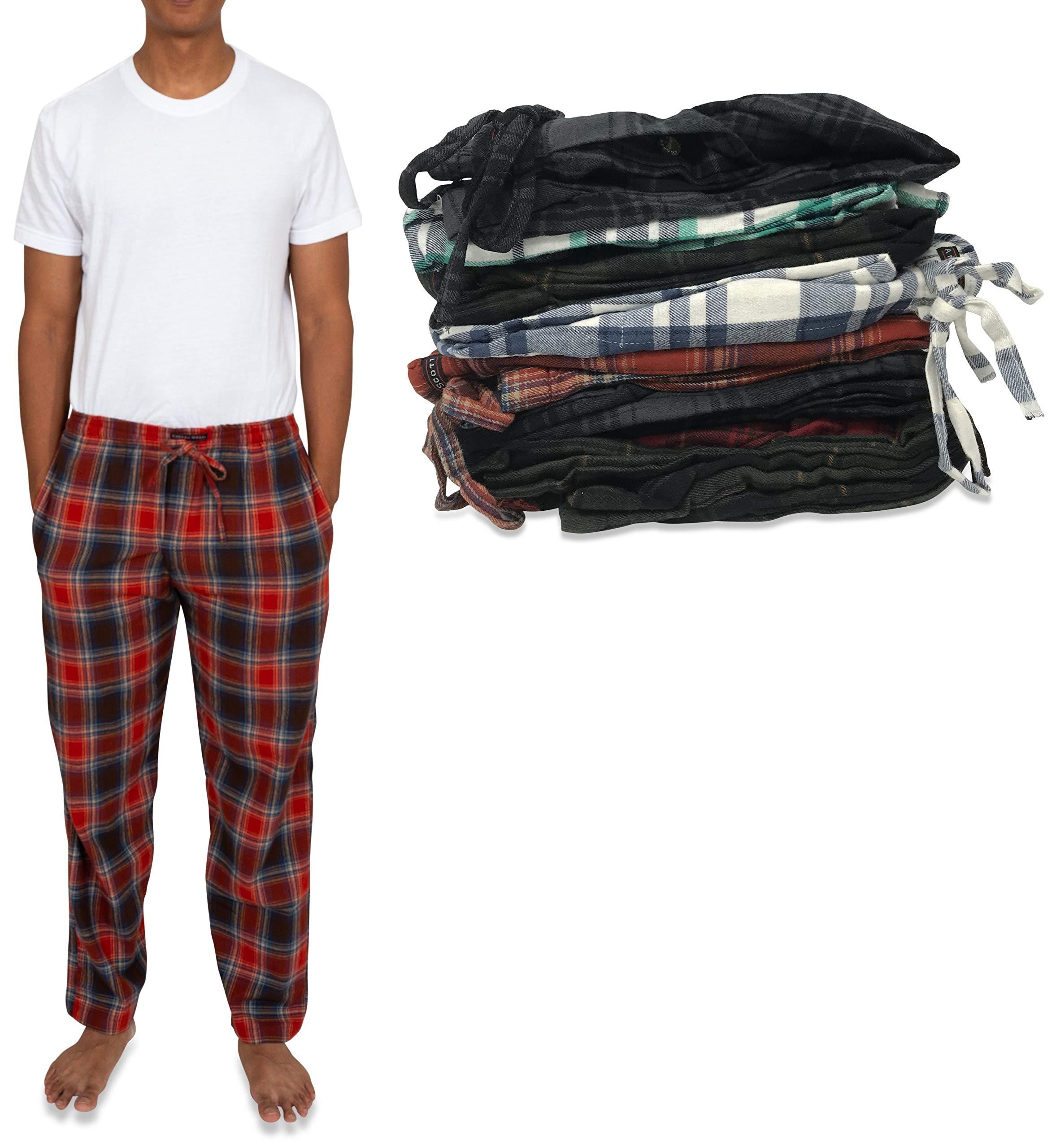 Andrew Scott 男式 4 件装 * 纯棉法兰绒睡裤 - 休闲裤