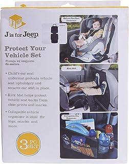 JEEP 车辆保护配件套装:豪华汽车座椅底垫,踢垫,箱子收纳袋