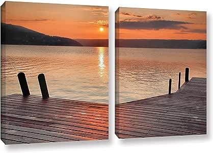 "ArtWall 2 Piece Steve Ainsworth's Another Kekua Sunrise Gallery Wrapped Canvas Set, 18 x 28"""