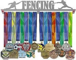 VICTORY HANGERS 成就*章挂架展示架 - Jiu Jitsu、围栏、排球、篮球、游泳 - 17.72 英寸