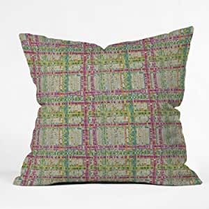 DENY Designs Sharon Turner Weave Mosaic Throw Pillow, 18 x 18