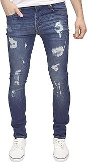 526Jeanswear 男式 Kato 破洞彈力超緊身仿舊牛仔褲
