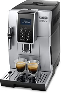 De 'longhi Dinamica ECAM 350.35 .SB 全自動咖啡機 (Digi taldi splay, Profi - aufschaeum 噴嘴, 的飲料上按鈕 bruehg 群, 2 - 杯 - 功能) 銀色