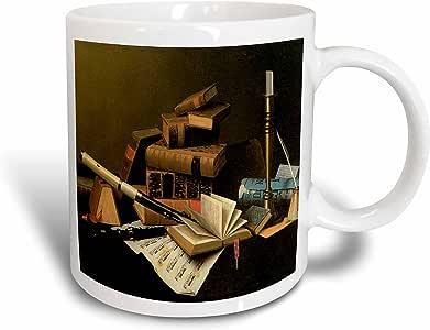 3drose BLN 美国艺术 FINE ART 系列–音乐和 literature William harnett 美国艺术家–马克杯 白色 11 oz
