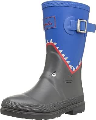Joules Boys Jnr Welly Wellington Boots, Blue (Blue Shark), 6 UK 39 EU