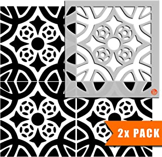 ALMERIA 家具墙壁地板瓷砖绘画模板 | 可定制尺寸 30 cm (6 tile repeat)