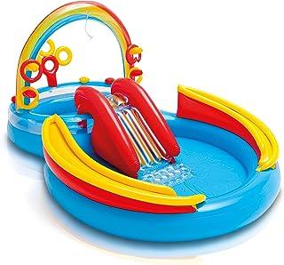 Intex 彩虹圈 充气游戏中心,适用于2岁以上儿童,117英寸/约2.97米X 76英寸/约1.93米X 53英寸/约1.35米