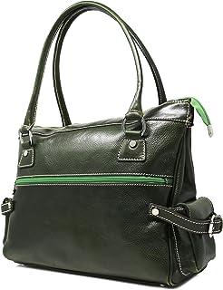 Floto Luggage Zip Pocket Monticello Handbag, Green, Small