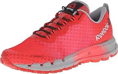 Reebok Women's All Terrain Thunder 2.0 Running Shoe, Red Rush/Poppy Red/Neon Cherry/Flat Grey, 6 M US