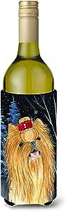 Caroline's Treasures SS8413-Parent Starry Night Yorkie 超薄罐子超饮料绝缘器 SS8413MUK,多色 多种颜色 750 ml SS8413LITERK