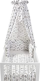Meyco 421056 全套摇篮 4 件套,ANIMAL,白色