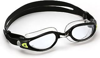 Aqua Sphere 中性成人 Kaiman Exo S 码男女通用游泳护目镜,黑色/透明,小号