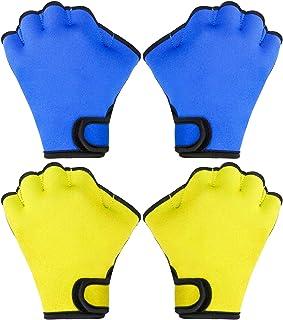PROLOSO 2双装游泳水手套水合身训练手套网状游泳手套水生健身防水男女皆宜