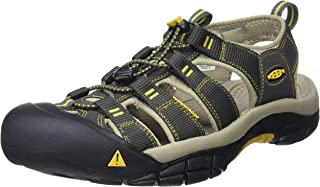KEEN Men's Newport H2 Sandal, Raven/Aluminum, 17 M US