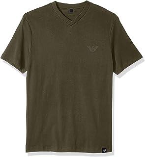 ARMANI JEANS 男式加大码侧标志 T 恤