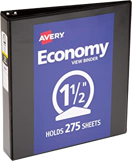 Avery Economy View Binder with Round Ring
