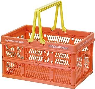 折叠 堆叠 容器盒 鲑鱼粉色 Large 400799102