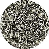 Springfield Leather Company 的镀镍板中号双盖铆钉 100 只装