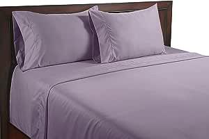 Color Sense Egyptian Cotton Silky Touch 400 Thread Count Sheet Set, King, Lavender