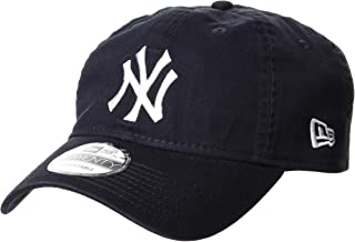 NEW ERA 9TWENTY Cloth Strap Washed Cotton 纽约洋基队 *蓝× 白色 帽子