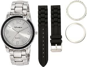 Embassy by Gruen Women's GU001LS Ladies Silver Toned Interchangeable Watch Gift Set