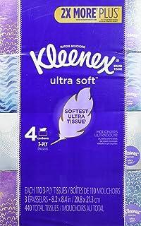 Kleenex 超柔软面巾纸,每盒 110 片 NEW 4 Cube Boxes 880